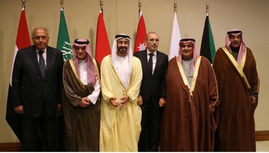 Cancilleres de países aliados de Arabia Saudita