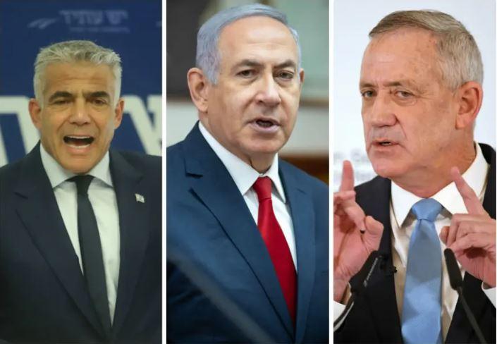 Netanyahu Lapid Gantz
