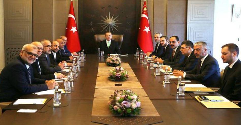 Reunión Erdogan Legisladores israelíes 2