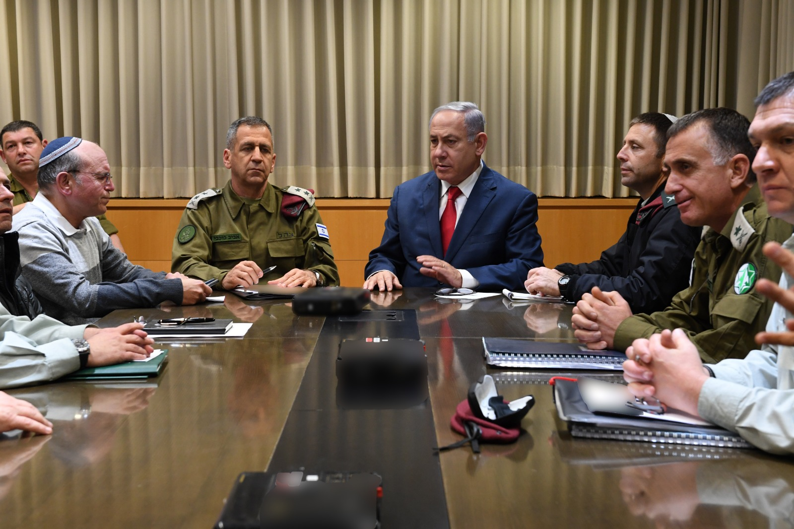 PM and DM Netanyahu holding security consultation