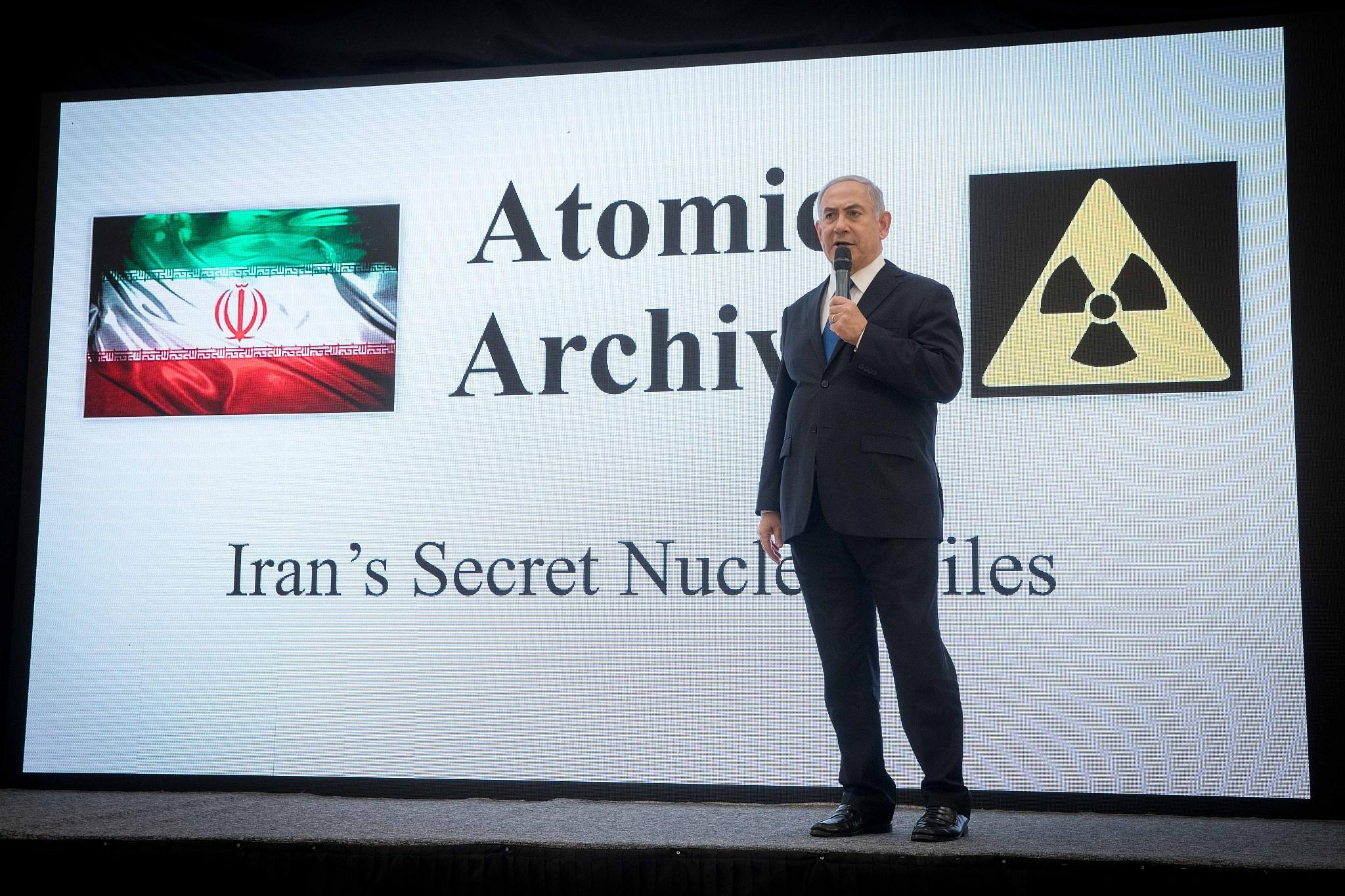 Netanyahu archivo nuclear iraní