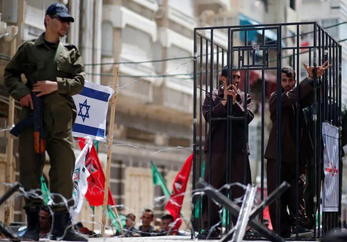 Palestinos protesta carcel