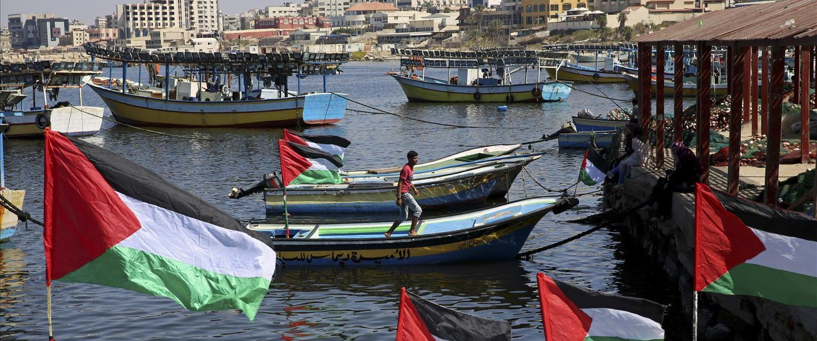 Franja de Gaza pescadores