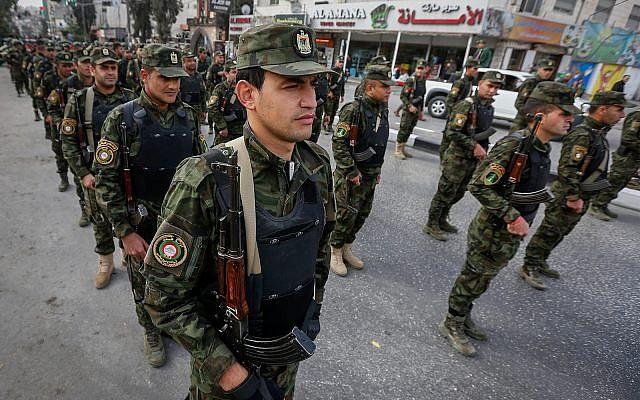 Fuezas de seguridad palestinas
