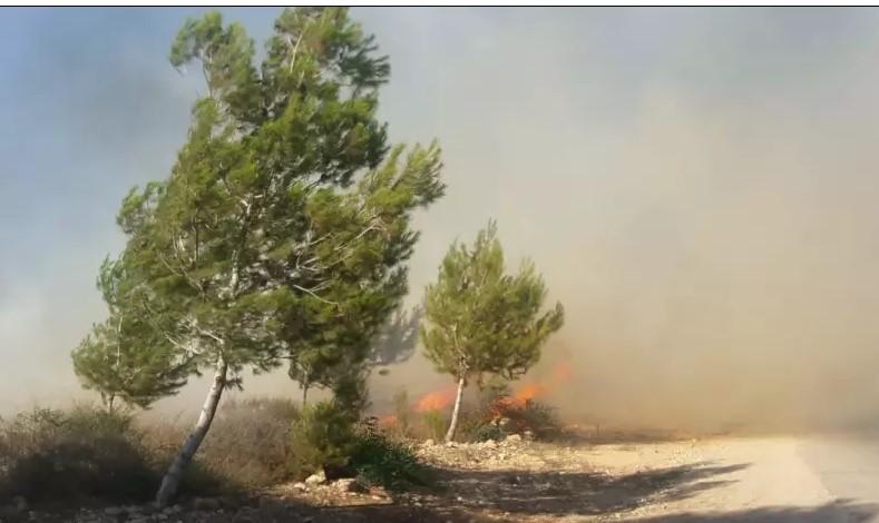Incendio cerca Gaza