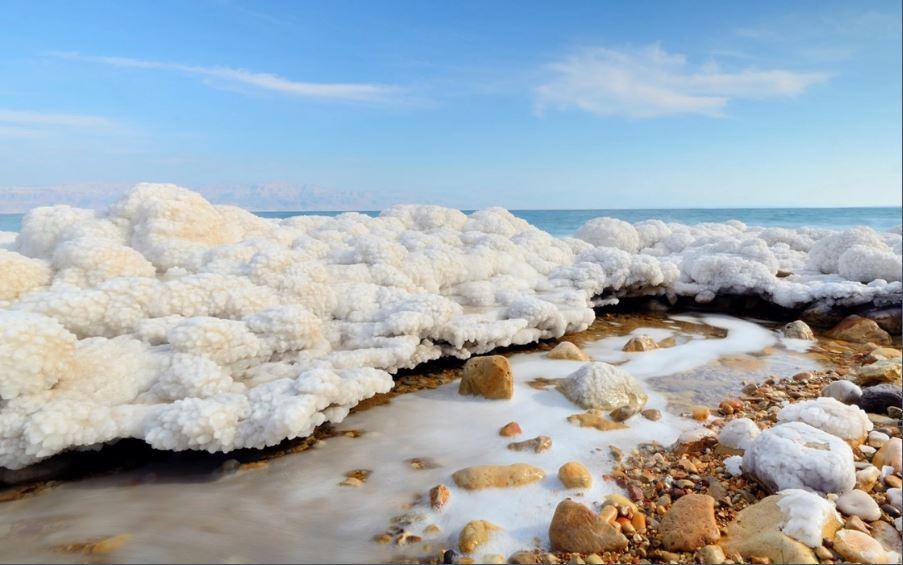 mar muerto nieve