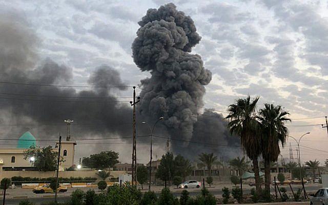 Base de una milicia chiita en Irak