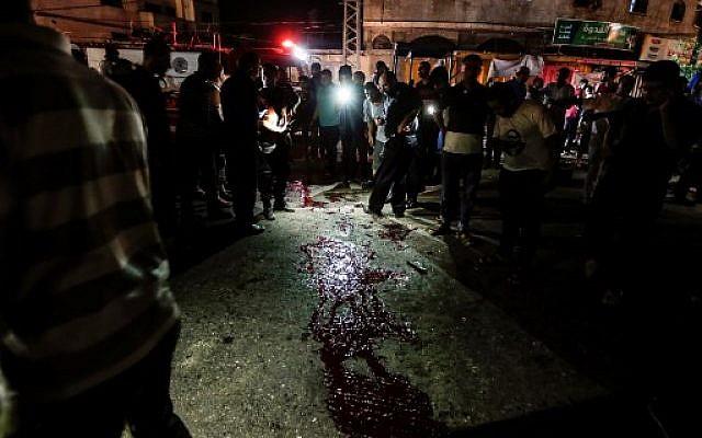Franja de Gaza explosiones