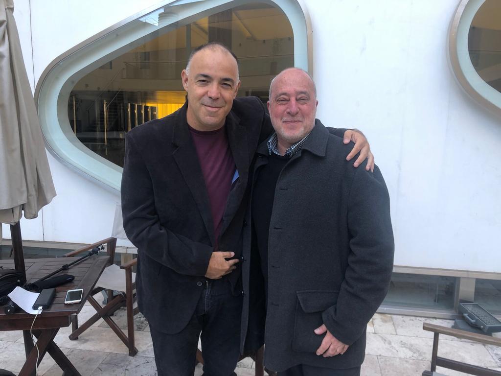 Dan Peer junto con Daniel Berliner, Director de la Agencia AJN