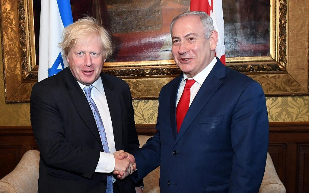 Netanyahu Boris Johnson