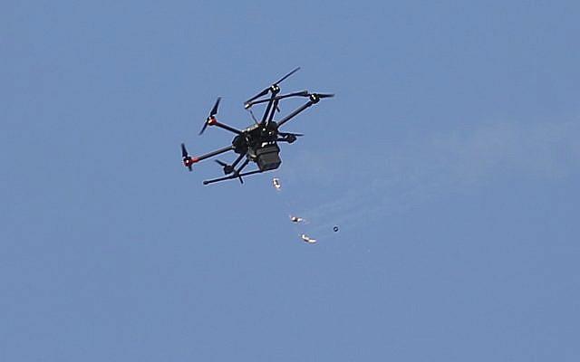 dron israelí