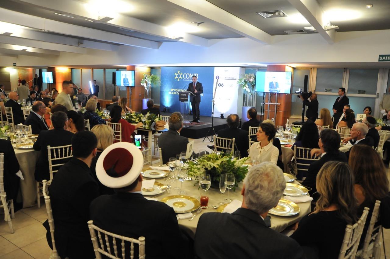 Vista geral do jantar de gala da 50a Convenção da Conib