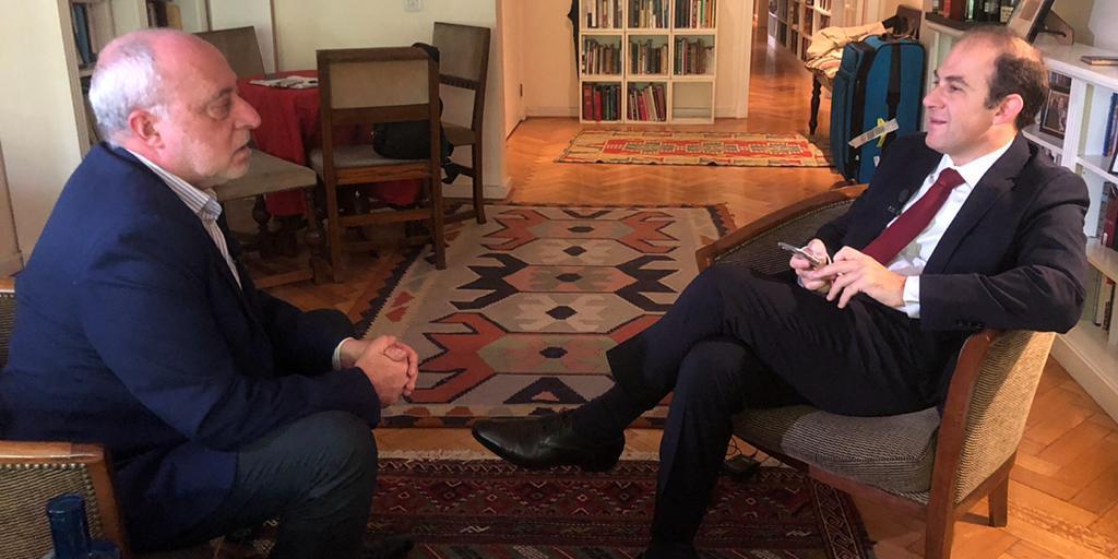 Daniel Berliner, director de AJN y Mariano Caucino, embajador de Argentina en Israel