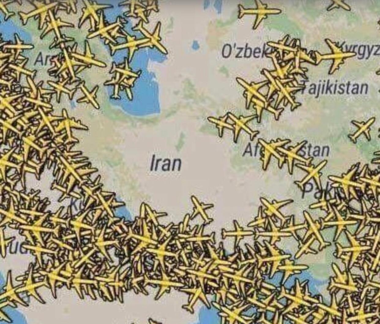 vuelos iran