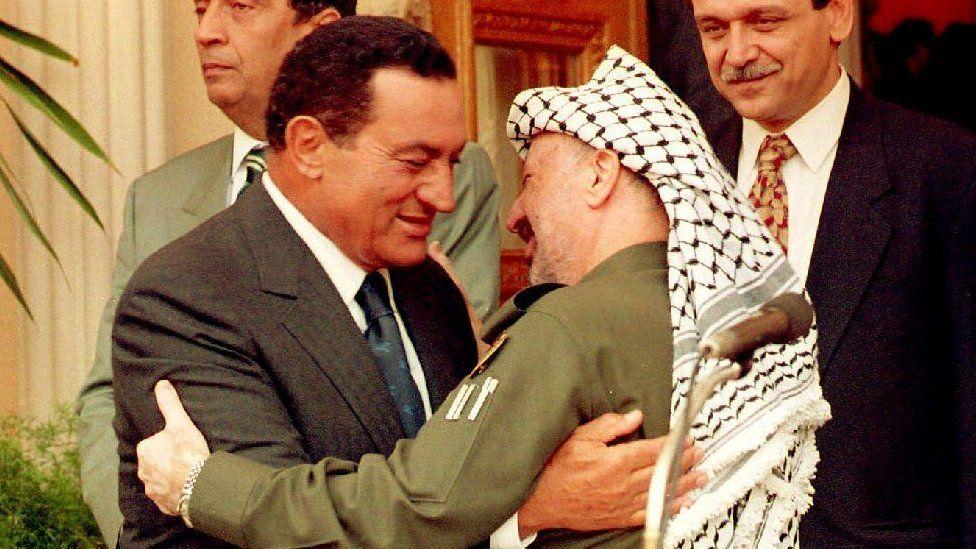 mubarak y arafat