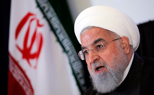 Iran's President Hassan Rouhani speaks at a news conference on the sidelines of the General Assembly in New York