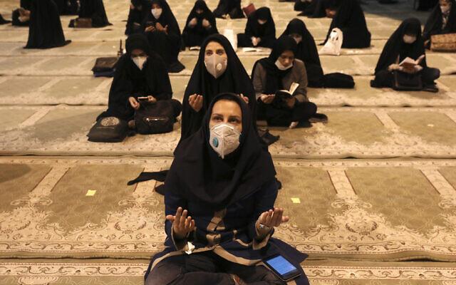 APTOPIX Virus Outbreak Mideast Iran Ramadan