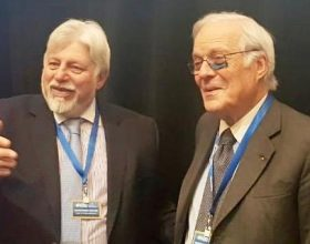 Werthein junto a David de Rothschild, presidente del Consejo Ejecutivo del WJC