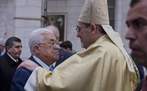 Mahmoud Abbas, Archbishop Pierbattista Pizzaballa