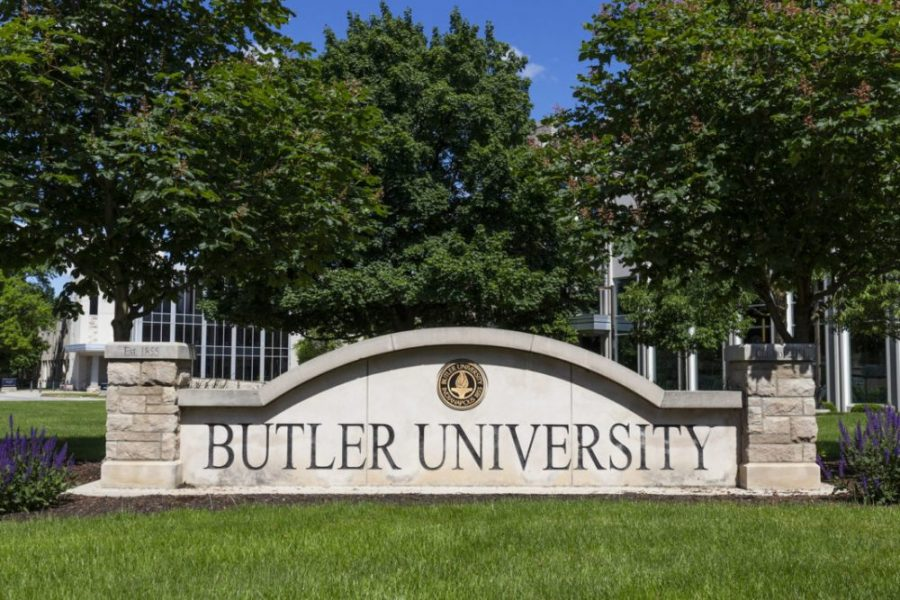 Butler University campus. Butler University is a private Liberal Arts college and was established in 1855.