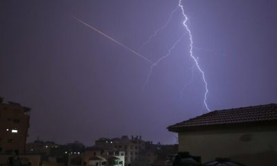 PALESTINIAN-ISRAEL-GAZA-WEATHER-THUNDER