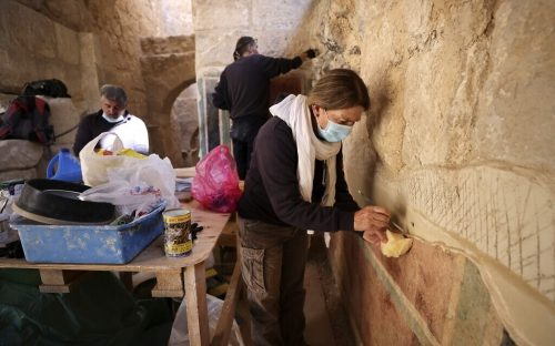 PALESTINIAN-ISRAEL-ARCHAEOLOGY-TOURISM-HISTORY