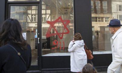 Britain Hanukkah Graffiti