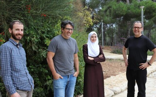 The-research-team-from-left-to-right-Gavriel-Fialkof-PhD-student-Dr.-Ronen-Sadeh-Dr-Israa-Sharkia-and-Prof-Nir-Friedman-1-640×400