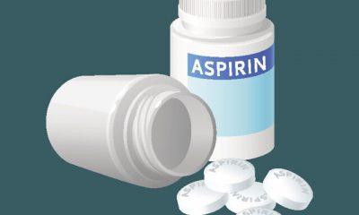 Aspirin pill bottle vector illustration. Medicine remedy in plastic container