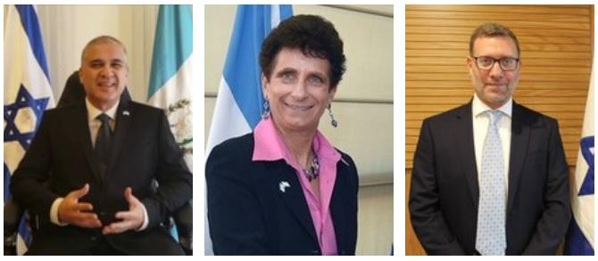 embajadores israelies