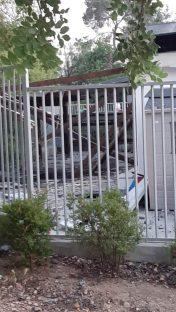 Jardín de infantes destrozado por impacto de misil