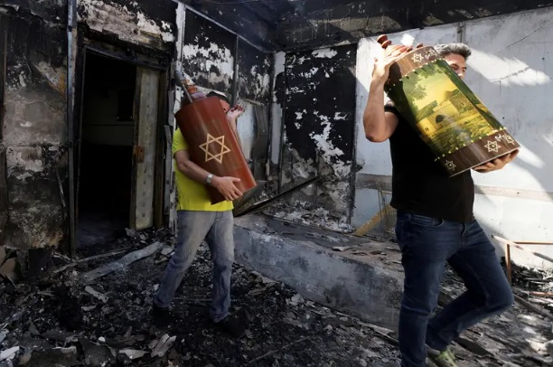 sinagoga quemada