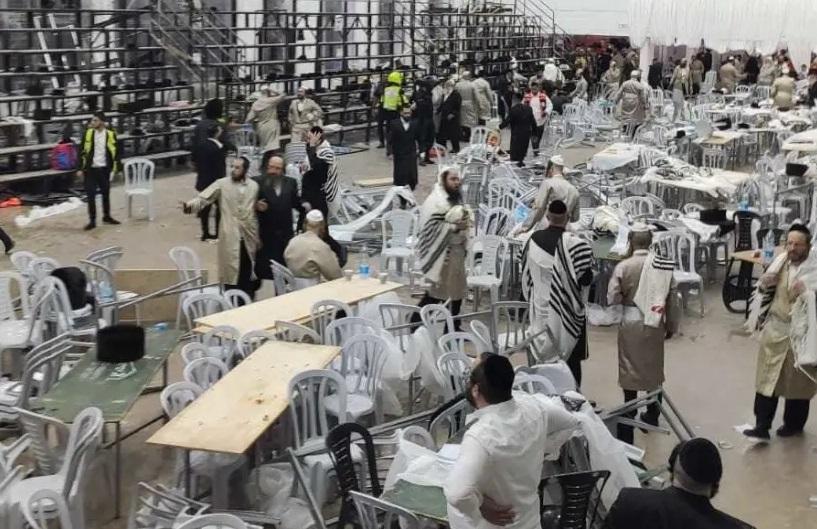 Desmoronamiento de gradas de una sinagoga cerca de Jerusalem: 2 muertos,  132 heridos