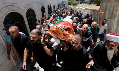 Funeral of Palestinian critic Nizar Banat in West Bank
