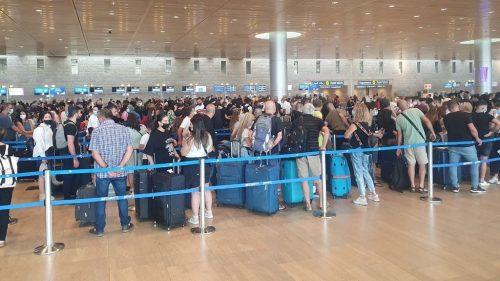 Aeropuerto Ben Gurión filas