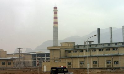 A security car passes in front of the Natanz nuclear facility 300 kilometers south of [Tehran] Novem..