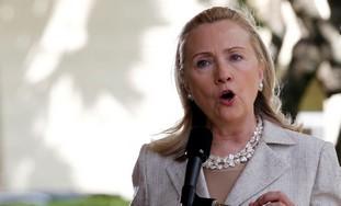 EE.UU.: Hillary Clinton condena la quema de una bandera israelí afuera de la convención demócrata