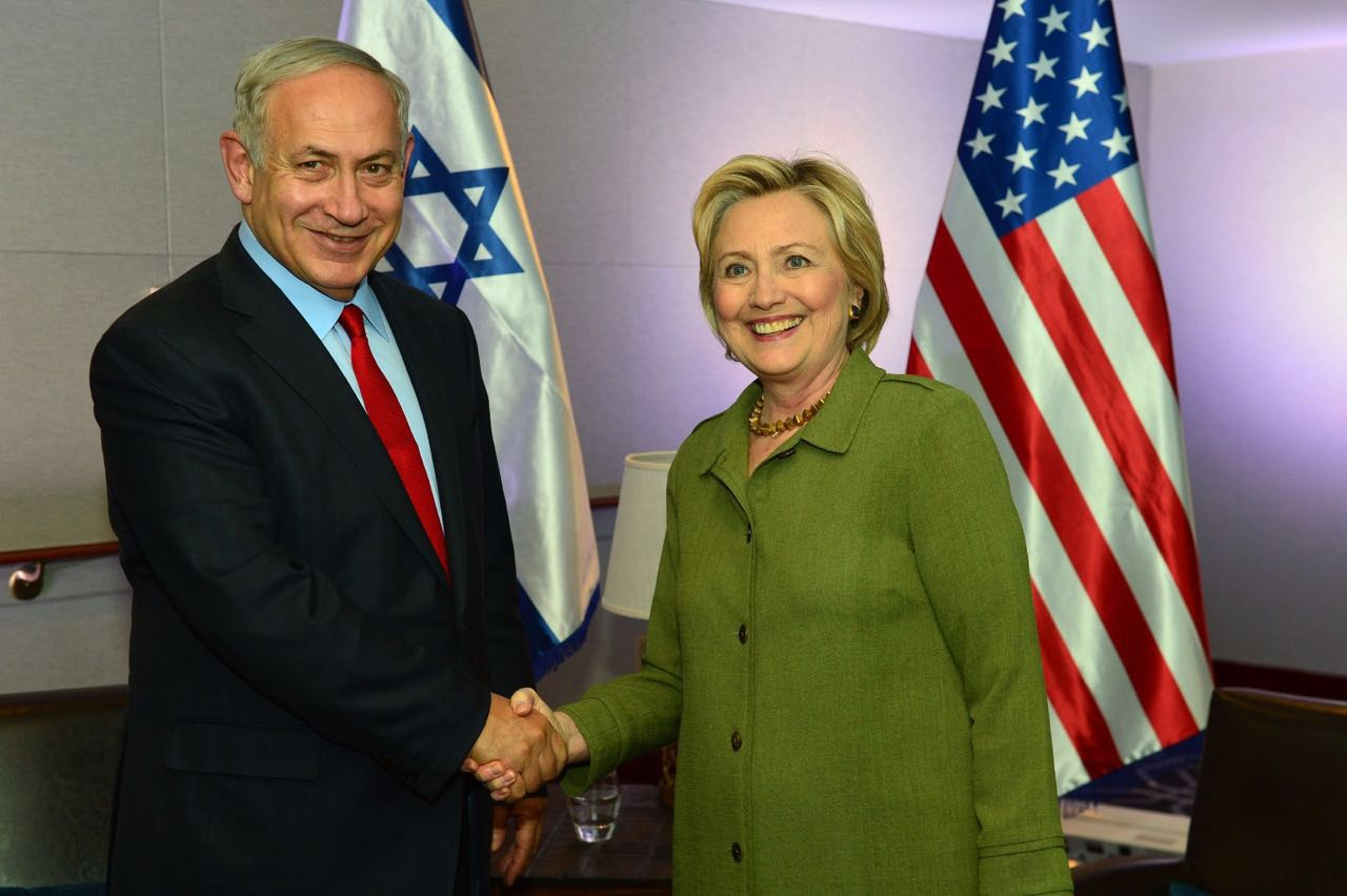 pm-netanyahu-and-hilary-clinton