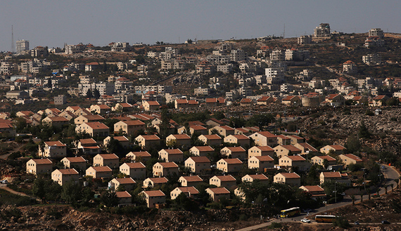 The West Bank Jewish settlement of Ofra is photographed as seen from the Jewish settler outpost of Amona in the West Bank