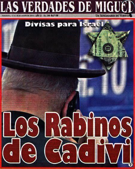 Una revista venezolana publicó imágenes antisemitas