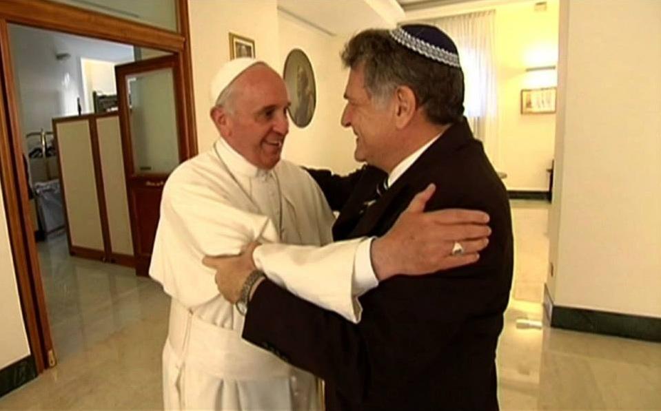 """El papa Francisco envió sus """"mejores deseos"""" a la comunidad judía por Rosh Hashaná"""