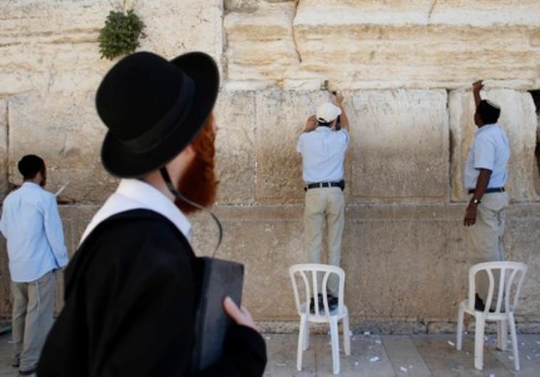 Israel. Se limpió el Muro de los Lamentos antes de Pésaj