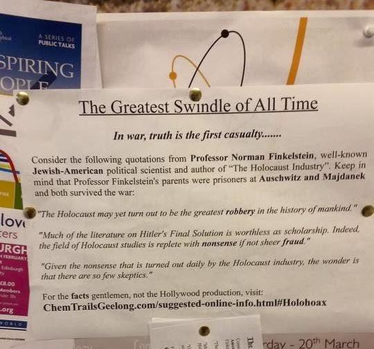 Antisemitismo. Encontraron afiches que niegan al Holocausto en dos universidades de Escocia