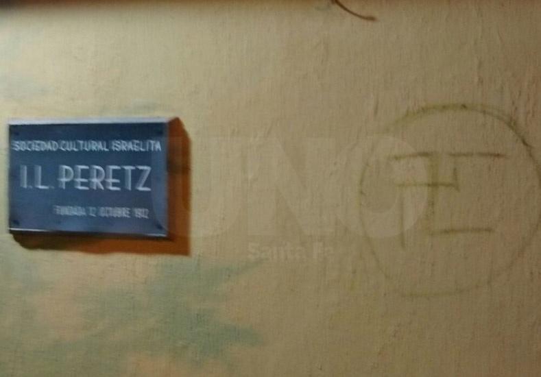 Aparecieron pintadas antisemitas en la Sociedad Cultural Israelita de Santa Fe, Argentina