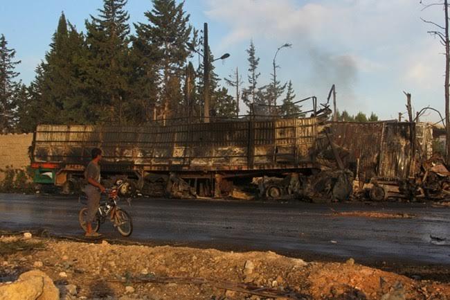 Colapsa la tregua en Siria: Siria y Rusia atacaron un convoy de ayuda humanitaria