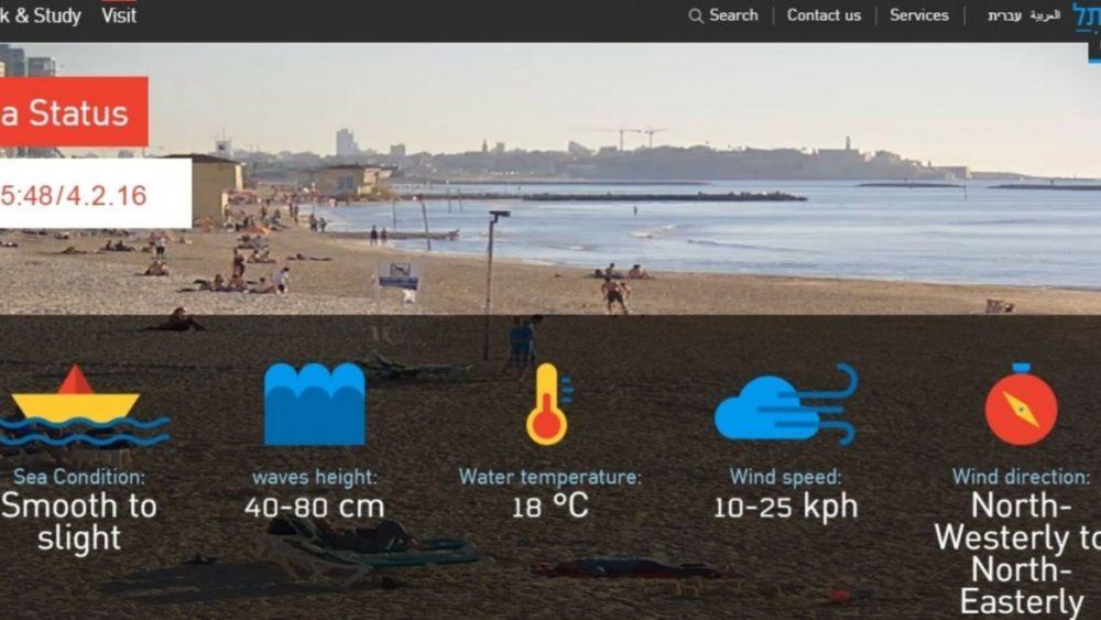 Las playas de Tel Aviv a sólo un clic de distancia