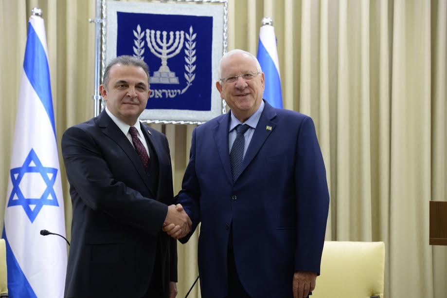 Rivlin recibió credenciales diplomáticas del nuevo embajador de Turquía en Israel